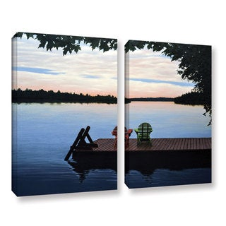 ArtWall 'Ken Kirsh's Tranquility' 2-piece Gallery Wrapped Canvas Set