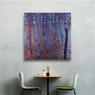ArtWall 'Gustav Klimt's Beeche Forest' Gallery Wrapped Canvas