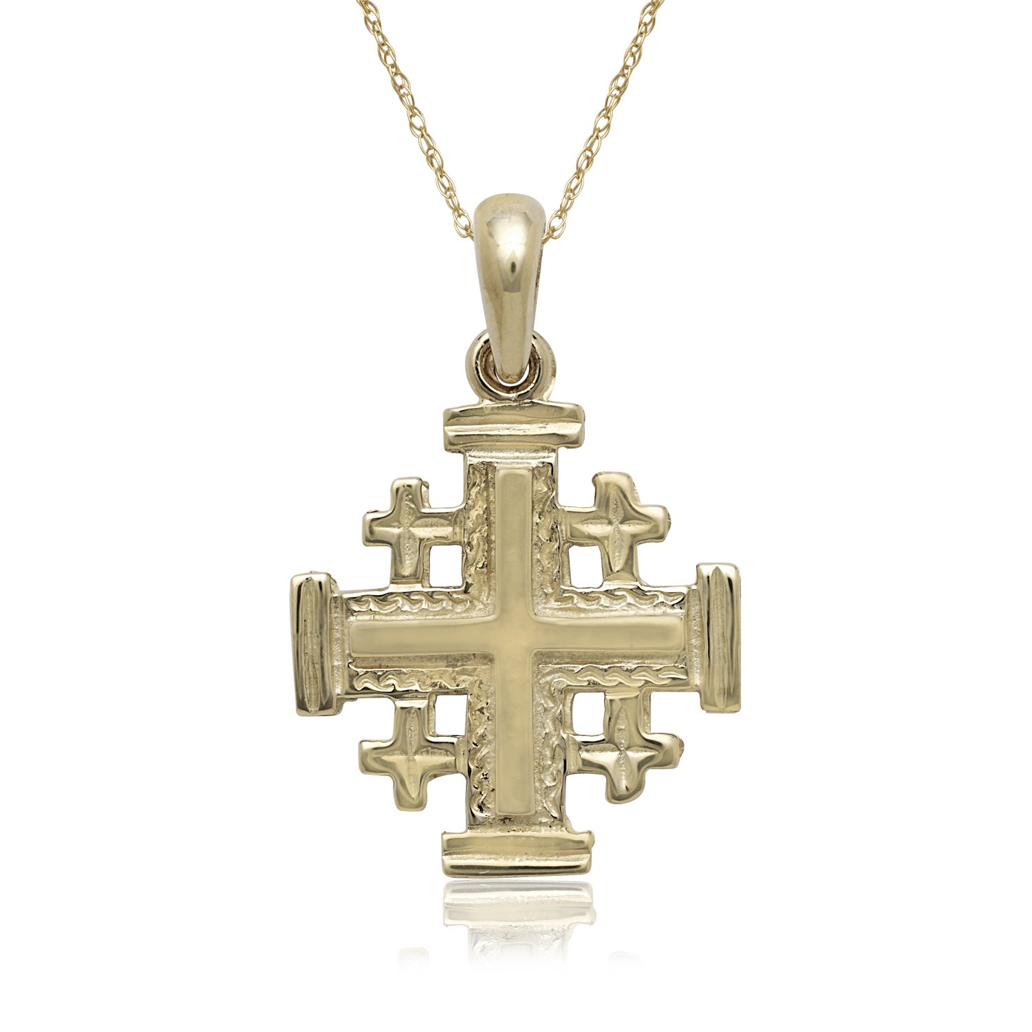 Unique Design 18K White Gold GF Cross Pendant Necklace With SWAROVSKI Crystal