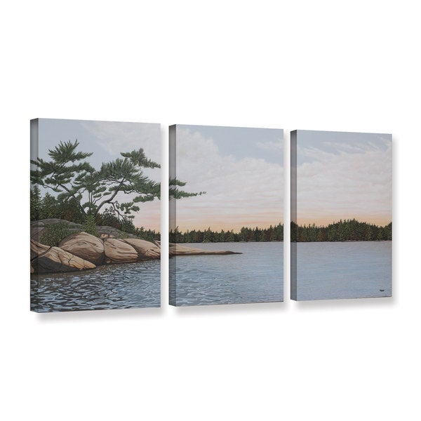 ArtWall 'Ken Kirsh's Winded Pine' 3-piece Gallery Wrapped Canvas Set