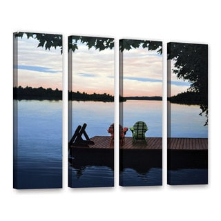 ArtWall 'Ken Kirsh's Tranquility' 4-piece Gallery Wrapped Canvas Set