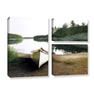 ArtWall 'Ken Kirsh's Silent Retreat 1' 3-piece Gallery Wrapped Canvas Flag Set