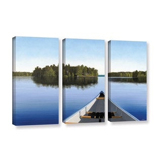 ArtWall 'Ken Kirsh's Paddle Muskoka' 3-piece Gallery Wrapped Canvas Set
