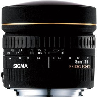 Sigma 8mm f/3.5 EX DG Circular Fisheye Lens for Canon