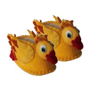 Handmade Felt Duck Zooties Baby Booties (Kyrgyzstan)