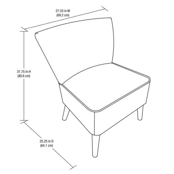 Terrific Shop Dorel Living Chevron Accent Chair Free Shipping Today Theyellowbook Wood Chair Design Ideas Theyellowbookinfo