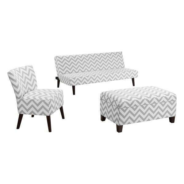 Surprising Shop Dorel Living Chevron Accent Chair Free Shipping Today Theyellowbook Wood Chair Design Ideas Theyellowbookinfo
