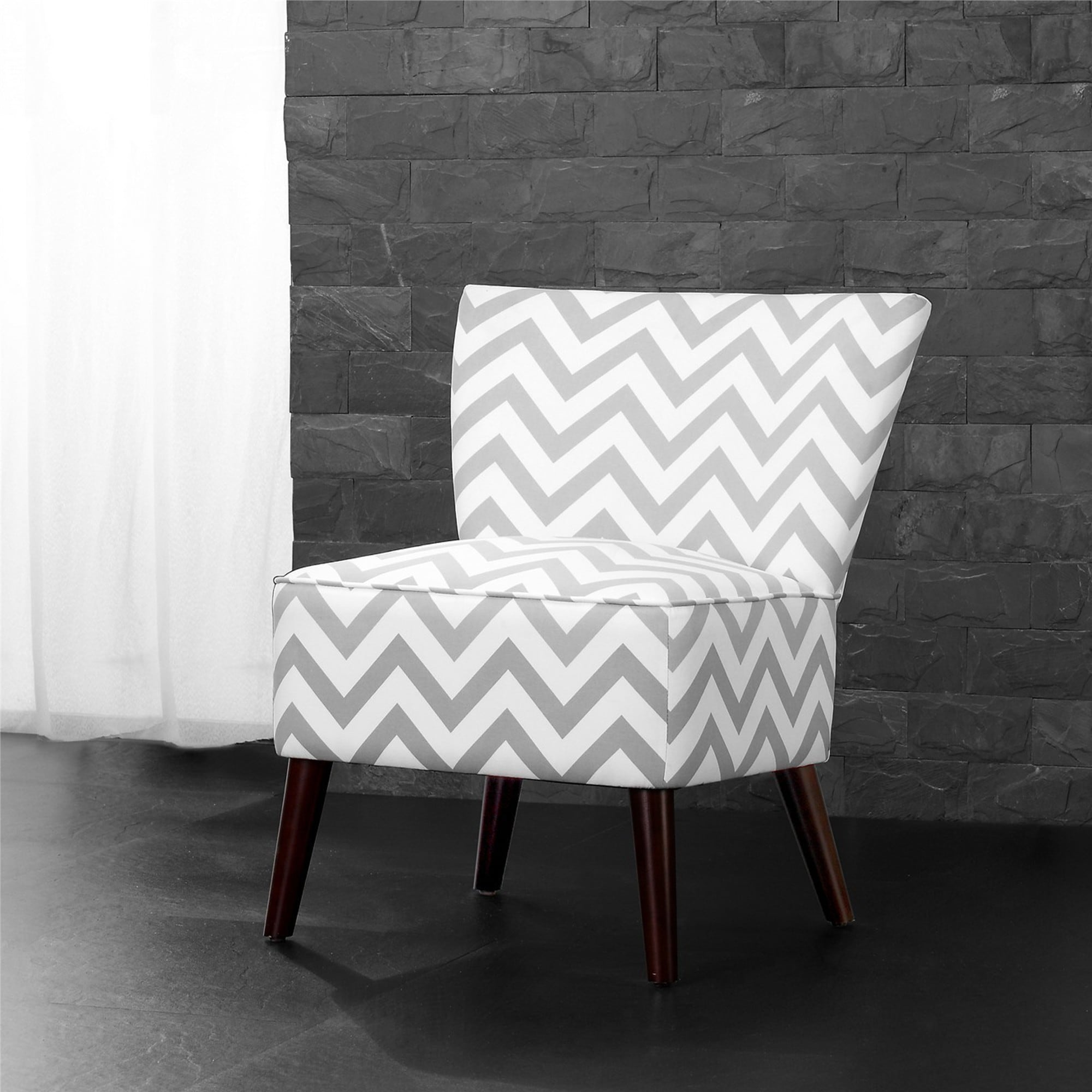 Shop Dorel Living Chevron Accent Chair Free Shipping On
