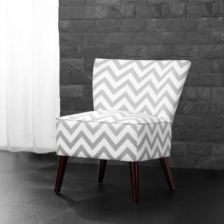 Anna French Yellow Chevron Fabric Accent Chair 15084838