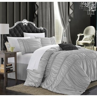 Chic Home Romano Silver 9-Piece Bed in a Bag with Sheet Set