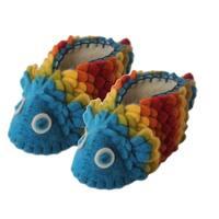 Handmade Felt Rainbow Fish Zooties Baby Booties (Kyrgyzstan)