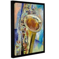 ArtWall 'Michael Creese's Saxaphone' Gallery Wrapped Floater-framed Canvas