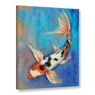 ArtWall 'Michael Creese's Sanke Butterfly Koi' Gallery Wrapped Canvas