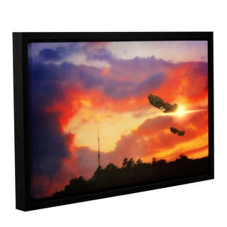 ArtWall 'Dragos Dumitrascu's Eve of War' Gallery Wrapped Floater-framed Canvas