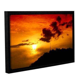 ArtWall 'Dragos Dumitrascu's Red Sky' Gallery Wrapped Floater-framed Canvas