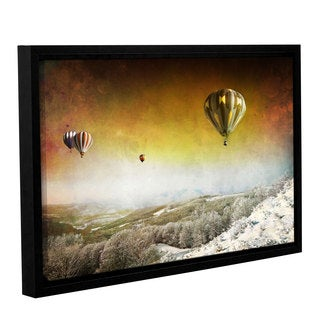 ArtWall 'Dragos Dumitrascu's Winter Magic' Gallery Wrapped Floater-framed Canvas