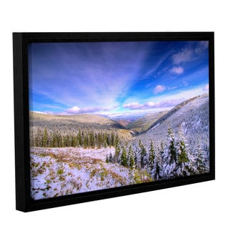 ArtWall 'Dragos Dumitrascu's Winter Lands II' Gallery Wrapped Floater-framed Canvas