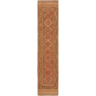 ecarpetgallery Hand-knotted Tajik Caucasian Brown Wool Runner Rug (1'9 x 8'6)