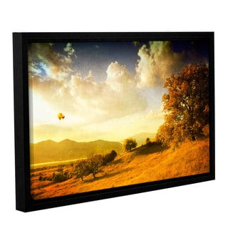 ArtWall 'Dragos Dumitrascu's Autumn Vision' Gallery Wrapped Floater-framed Canvas