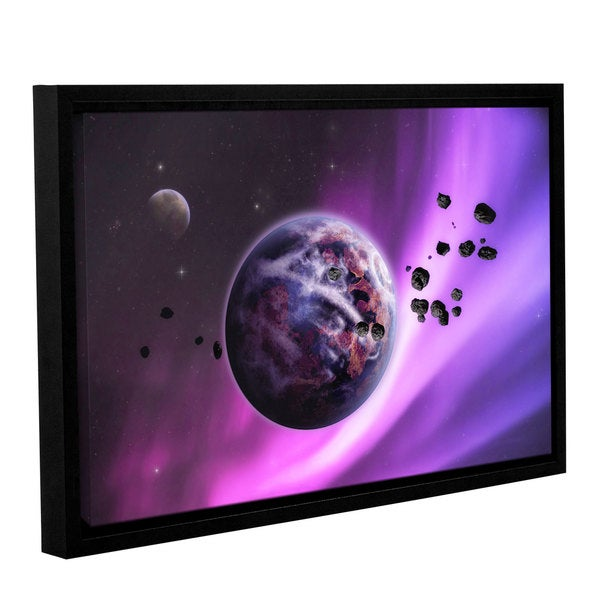 ArtWall 'Dragos Dumitrascu's Deep Purple Space' Gallery Wrapped Floater-framed Canvas - multi