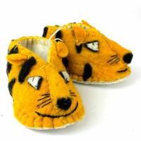 Handmade Felt Tiger Zooties Baby Booties (Kyrgyzstan)