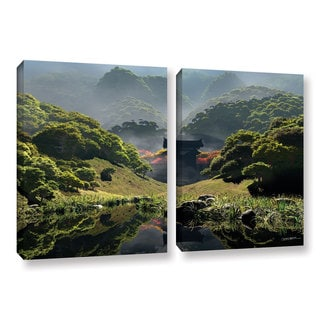 ArtWall 'Cynthia Decker's Temple of Perpetual Autumn' 2-piece Gallery Wrapped Canvas Set
