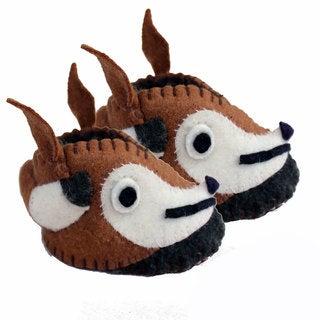 Handmade Felt Fox Zooties Baby Booties (Kyrgyzstan)