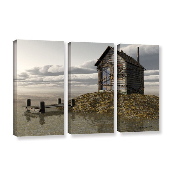ArtWall 'Cynthia Decker's Locked Out' 3-piece Gallery Wrapped Canvas Set