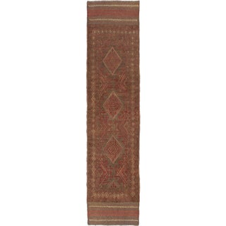 ecarpetgallery Hand-knotted Tajik Caucasian Green Wool Runner Rug (2' x 8'4)