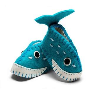 Handmade Felt Whale Zooties Baby Booties (Kyrgyzstan)