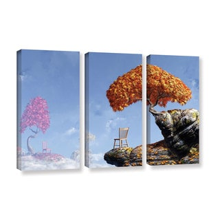 ArtWall 'Cynthia Decker's Leaf Peepers' 3-piece Gallery Wrapped Canvas Set