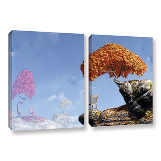 ArtWall 'Cynthia Decker's Leaf Peepers' 2-piece Gallery Wrapped Canvas Set