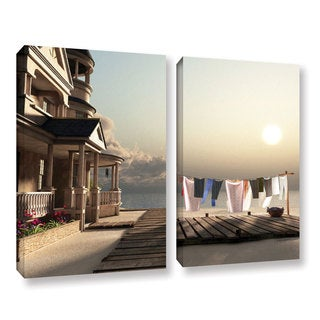 ArtWall 'Cynthia Decker's Laundry Day' 2-piece Gallery Wrapped Canvas Set
