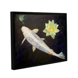ArtWall 'Michael Creese's Platinum Ogon Koi' Gallery Wrapped Floater-framed Canvas
