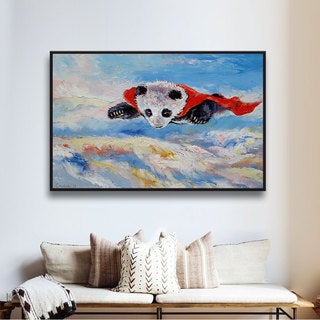 ArtWall 'Michael Creese's Panda Superhero' Gallery Wrapped Floater-framed Canvas