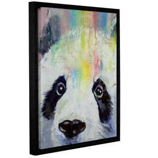 ArtWall 'Michael Creese's Panda Rainbow' Gallery Wrapped Floater-framed Canvas