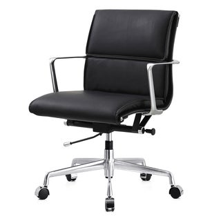 M347 Black Italian Leather Office Chair
