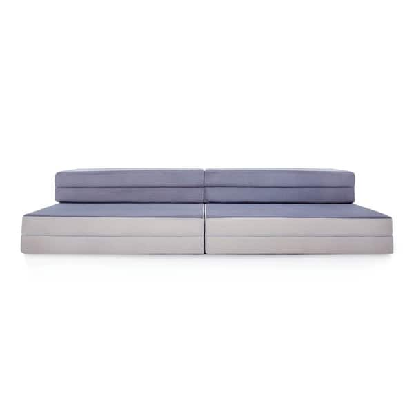 separation shoes 8694c 286b4 Shop LUCID Convertible Folding Foam Sofa Bed - Grey - On ...