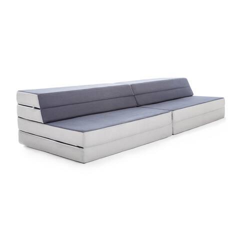 LUCID Convertible Folding Foam Sofa Bed - Grey