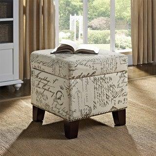 Dorel Living Blake Script Cube Ottoman