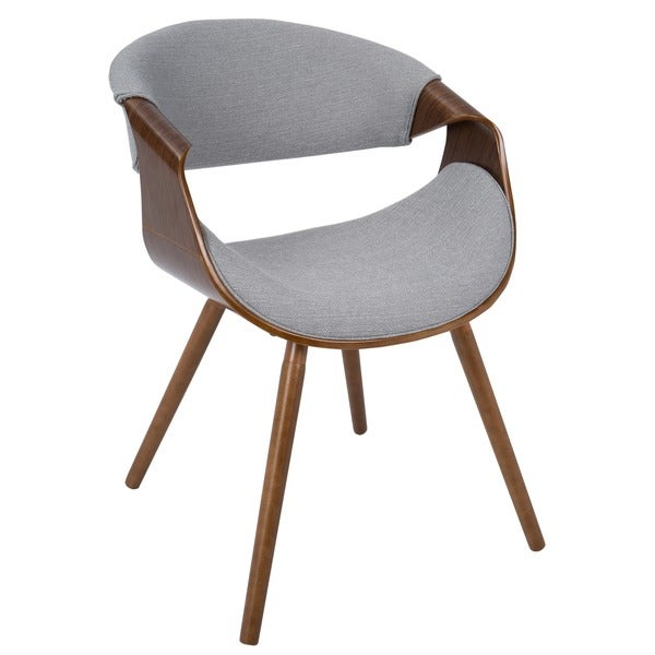 curvo mid century modern chair in walnut wood free shipping today 18343309. Black Bedroom Furniture Sets. Home Design Ideas