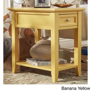 Zayden 1-drawer Side Table with Charging Station by iNSPIRE Q Bold (Option: Banana Yellow)