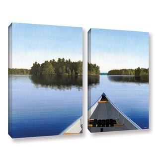 ArtWall 'Ken Kirsh's Paddle Muskoka' 2-piece Gallery Wrapped Canvas Set
