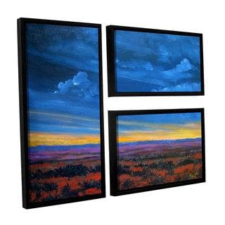 ArtWall 'Gene Foust's Shadow moses' 3-piece Floater Framed Canvas Flag Set
