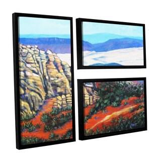 ArtWall 'Gene Foust's Rocky Mountain Living' 3-piece Floater Framed Canvas Flag Set