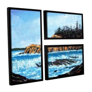 ArtWall 'Gene Foust's Roll Tide' 3-piece Floater Framed Canvas Flag Set