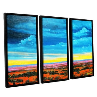ArtWall 'Gene Foust's Riders on the Storm' 3-piece Floater Framed Canvas Set