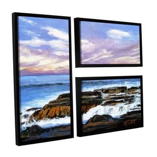 ArtWall 'Gene Foust's Rolling Water' 3-piece Floater Framed Canvas Flag Set