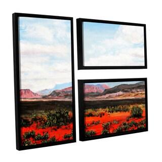 ArtWall 'Gene Foust's Joyride' 3-piece Floater Framed Canvas Flag Set