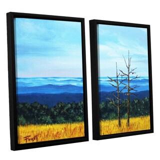 ArtWall 'Gene Foust's Serene Mountain Tops' 2-piece Floater Framed Canvas Set